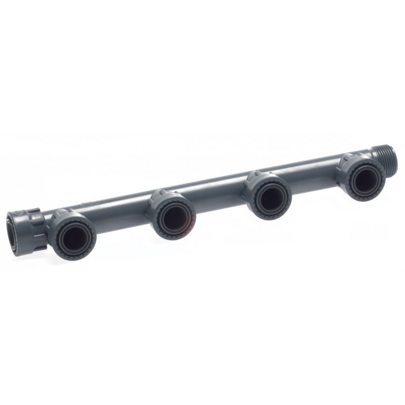 Pvc quot female ports manifold with or for irrigation