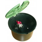 "Round valve box for irrigation with 3/4"" valve - Rain PZCR"