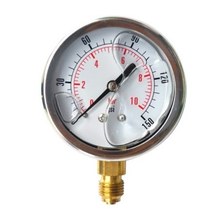 Manometer scale 0 - 6/10/16/100 in stainless steel with glicerine