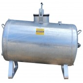 Horizontal by-pass fertilizer tank for fertigation 200 liters