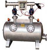 "Dual chamber sand media filter DN80 3"" with automatic backwash kit"