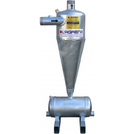 "Hydrocyclone sand separator filter 2"" male in galvanized steel"