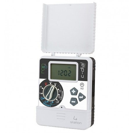 Rain C-DIAL 4 or 6 stations 24 volt INDOOR Electronic programmer for irrigation systems
