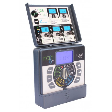 Rain I-DIAL 4 or 6 or 8 stations 24 volt INDOOR Electronic programmer for irrigation systems